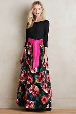 Eliza J Marlow Black Floral Gown Special Occasion Long Dress Sz 6 NWT
