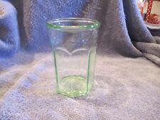 Vintage Green Anchor  8 Panel Tumbler Glass
