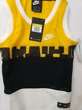 Nike boys Air Authentic Basketball jersey Small yellow and black.