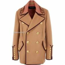 Dsquared2 Camel Wool Coat Jacket UK8-10/ IT40 $3500 Dsquared New