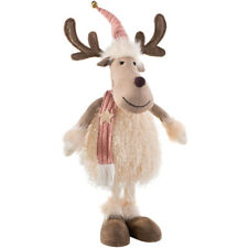 Grazing Silver 31-28cm Christmas Figure Decorations Pair Reindeer Standing