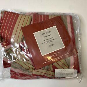 Sundance Catalog Utah Stripe pillow sham 100% woven cotton seed tan striped