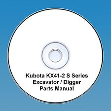 Kubota KX 41-2 S Series Excavator / Digger  - Parts Manual.