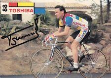 CYCLISME carte cycliste FREDERIC GARNIER équipe TOSHIBA 88  signée
