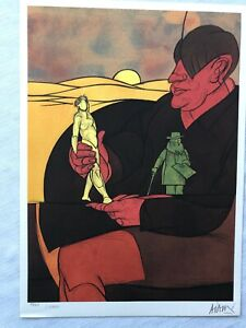 Valerio ADAMI, Statuette - Lithographie 1982