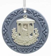 1998 Genuine Wedgwood Candle Lantern Annual Jasperware Ornament Boxed / England