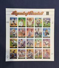 Scott's Destash - #3408a-t 33 Cent Legends of Baseball Sheet of 20 Stamps MNH