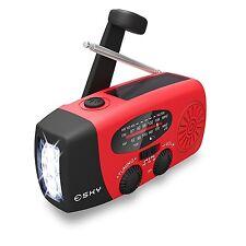Emergency Crank Radio Led Flashlight Power Survival Gear Prepper Outdoor Camping