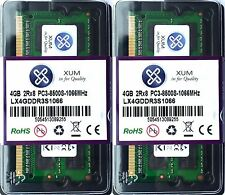 RAM 8gb (2x 4gb) pc3-8500s ddr3 1066mhz SO-DIMM 204-pin di memoria per PC/Mac Laptop