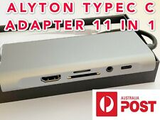 11-IN-1 USB Type-C HUB to 4K HDMI,LAN,SD card,USB3.1*4,Audio,VGA Power Charge