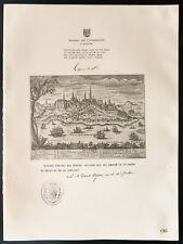 1926 - Lithographie citation Arthur Meighen. Le Cardinal Bégin, (Canada).