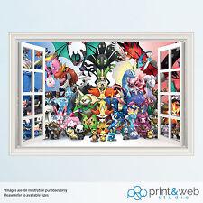 Pokemon 3D Window View Decal Wall Sticker Home Decor Art Mural Kids
