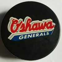 OSHAWA GENERALS OHL VINTAGE MADE IN SLOVAKIA OFFICIAL VEGUM HOCKEY PUCK OLD GEM!