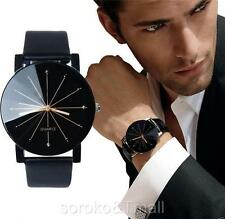Awesome New Men's Date Leather Stainless Steel Sport Quartz Star Wrist Watch
