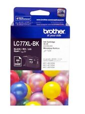 2x Brother Genuine LC-77XLBK H/Yield BLACK Ink For J6510DW J6710DW - 2.4K Pages