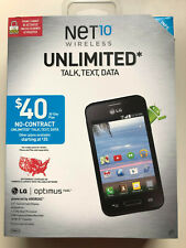 Net 10 Wireless LG Optimus FUEL Android New in Box 4GB MicroSD Card Included