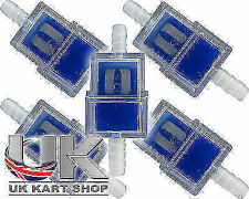 En línea de gasolina / Filtro De Combustible X 5 Rotax Max Honda tkm 100cc Cadet Reino Unido Kart Tienda