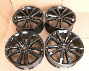 "SET 4 GENUINE ORIGINAL JAGUAR E-PACE 20"" VENOM ALLOY WHEEL RIMS GLOSS BLACK J9C3"