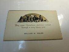 MARCHING BAND VINTAGE CHRISTMAS & NEW YEAR GREETING ART DECO CARD