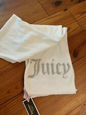Juicy Couture Black Label  Knit Scarf Gold Studs Scarf Ivory Long NWT $32