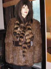 Unique Rabbit Fur & Raccoon Tails Stroller Coat Jacket