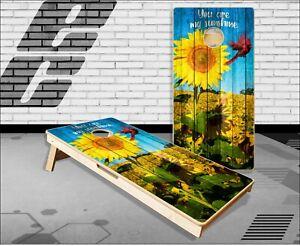 Sunflower 2 Cornhole Boards Bean Bag Toss Game