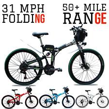 1000W 48V FOLDING E-Mountain Bike 31 MPH 50+ Mile Electric Mountain E-Bike 2020
