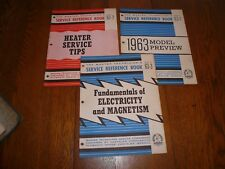 Chrysler Master Technicians Service Conference Reference Book 63-1 63-2 63-3