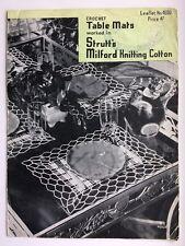 VINTAGE STRUTT'S N. 4030 uncinetto Tabella Stuoie Pattern 1950s