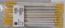 SCN-18-H Brady Black on White Wire Marker Clip Sleeves 300 Clips Printed text H