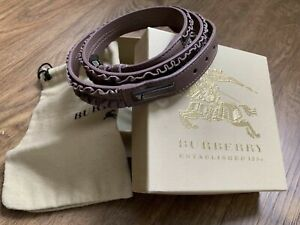 Authentic BURBERRY Leather Scrunch Belt. Made In Italy. Size 36/90.