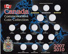 Canada 2007-2010 Vancouver Olympics 25¢ Coin Board $5.50