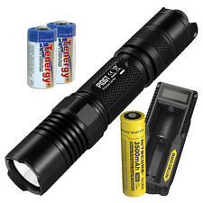 Nitecore P10GT 900 Lumen LED Flashlight - UM10 Charger & 3500mAH 18650 Battery