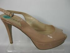 GUESS beige peep toe high heel shoes US 8  UK 5.5