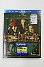 Pirates of the Caribbean Dead Man's Chest 2Disc BLU RAY+ DVD  BNEW SEALED