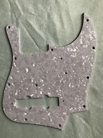 Custom Guitar Pickguard For Japan Jazz Bass Style Scratch Plate,4Ply White pearl