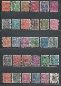 US Used Complete 1938 Presidential Issue #803 to #832 Scott Value over $8 JK62