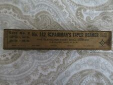 Vintage Cleveland Twist Drill Co Repairmans Taper Reamer 142 Size 2 With Box