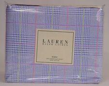 New Ralph Lauren Plaid Studio Glen Seawiew Queen Flat Sheet