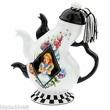 New Disney Parks Alice in Wonderland Mad Hatter Triple 3 Spout Ceramic Tea Pot