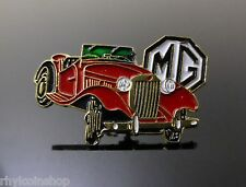 BRAND NEW VINTAGE MG RED CAR PIN BADGE