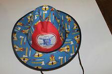 Chapeau de cow boy ancien pour enfant taille 50 en toile de coton en ttbe
