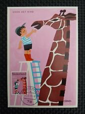 Netherlands Mk 1967 Giraffe Girafe Maximum Card Carte Maximum Card Mc cm c1772