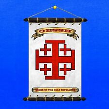 Order of the Holy Sepulchre Flag SET 5in1 Banner Sticker Pennant Postcard Magnet