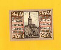 NAUMBURG (ALLEMAGNE) BILLET-MONNAIE de NECESSITE illustré EGLISE en 1920