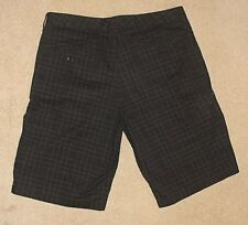The North Face Mens Black 100% Cotton Plaid Casual Sport Utility Shorts Size 34