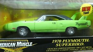 American Muscle ERTL 1970 Plymouth Superbird Green 1/18 Limited Edition MIB