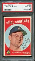 1959 Topps BB Card #483 Clint Courtney Washington Senators PSA NM-MT 8 !!!!