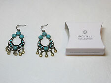Ladies Womens Avon Sign Cllctn Blue Atlantic Chandelier Earrings F4020391 NIP;;