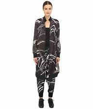 adidas Y-3 by Yohji Yamamoto Women's W Aop Elongated Semi-Sheer Bomber Jacket~S